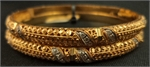 22 Karat Filigree and CZ Bangle-gold jewellery-Lotus Gold