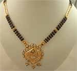22 Karat Gold 3 Row 2 Tone Mangalsutra-gold jewellery-Lotus Gold