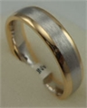 18 Karat Gold 2 Tone Plain Matt Finish Gents Band-gold jewellery-Lotus Gold