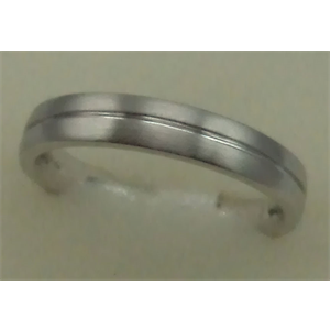 10 Karat White Gold Gents Plain Band