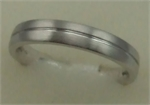 18 Karat White Gold Gents Plain Band-gold jewellery-Lotus Gold