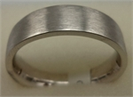 18 Karat White Gold Matt Finish Gents Plain Band-gold jewellery-Lotus Gold