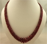 2 Strand Ruby Spinal Cut Necklace 55cm in Length-victorian jewellery-Lotus Gold