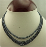 3 Strand Sapphire Necklace 45cm in Length-victorian jewellery-Lotus Gold