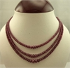 3 Strand Ruby Necklace 45 cm in Length-victorian jewellery-Lotus Gold