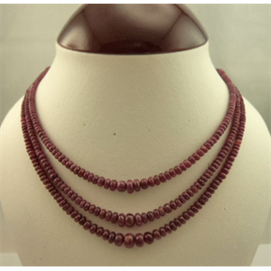 3 Strand Ruby Necklace 45 cm in Length