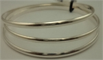 925 Sterling Silver 3 Pieces Plain Bangles-silver jewellery-Lotus Gold