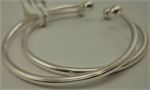 Sterling Silver Open End Ball Baby Bangle -silver jewellery-Lotus Gold