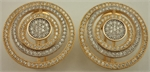 925 Sterling Silver Two Tone Cubic Zirconia Round Studs-silver jewellery-Lotus Gold