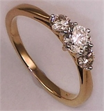 9 Karat Yellow Gold with 0.76 Carat Diamond 3 Stone Ring-diamonds-Lotus Gold