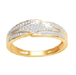 18Karat Yellow Gold with 0.18Carat Diamond Fancy Band-diamonds-Lotus Gold