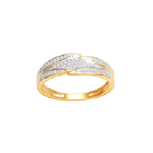 18Karat Yellow Gold with 0.18Carat Diamond Fancy Band