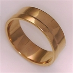 9Kt Gents Plain Band-gold jewellery-Lotus Gold