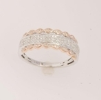 10K White and Rose Gold 0.50ct  Diamond Ring -diamonds-Lotus Gold