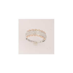 10K White and Rose Gold 0.50ct  Diamond Ring