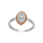 10K White and Rose Gold 0.15ct Diamond Ring -diamonds-Lotus Gold