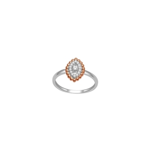 10K White and Rose Gold 0.15ct Diamond Ring