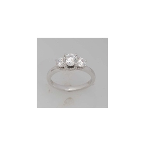 10Kt White Gold 1.5ct Diamond 3st Ring
