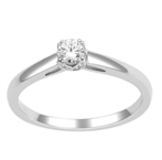 10Kt White Gold 0.11ct Diamond Solitaire Ring-rings-Lotus Gold