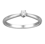 10Kt White Gold 0.10ct Diamond Solitaire Ring-diamonds-Lotus Gold