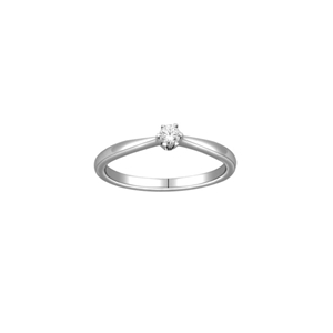 10Kt White Gold 0.10ct Diamond Solitaire Ring