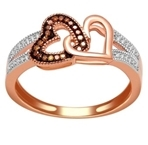 10kt rose goldd cognac diamond ring-diamonds-Lotus Gold