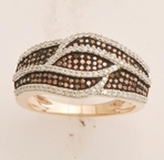 10kt rose gold black diamond ring-diamonds-Lotus Gold