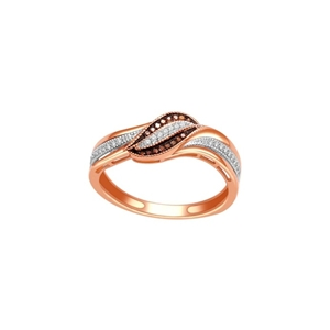 10kt rose gold cognac diamond ring