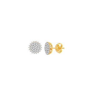 10kt yellow gold 0.37ct diamond cluster earring GH-SI2