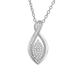 10KT WHITE GOLD 0.10CT DIAMOND TEARDROP PENDANT-diamonds-Lotus Gold