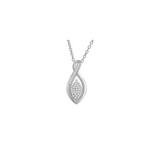 10KT WHITE GOLD 0.10CT DIAMOND TEARDROP PENDANT