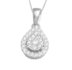 10KT YELLOW GOLD 0.25CT DIAMOND TEARDROP PENDANT-diamonds-Lotus Gold