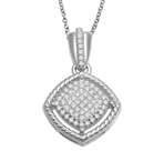 10KT YELLOW GOLD 0.15CT DIAMOND CLUSTER PENDANT-diamonds-Lotus Gold